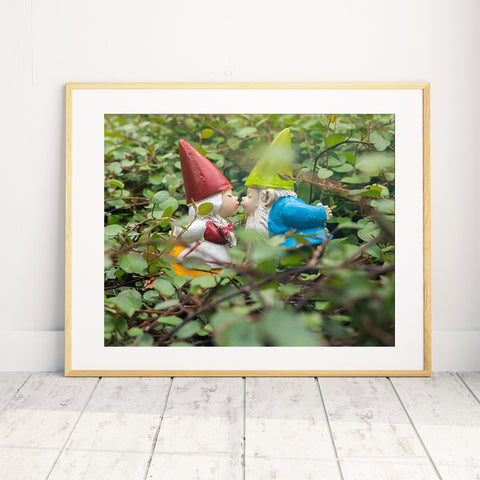 Gnome Kisses - Garden Gnome Print