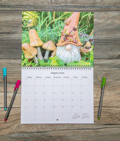 2019 Garden Gnome 8.5x11 Wall Calendar - april bern photography
