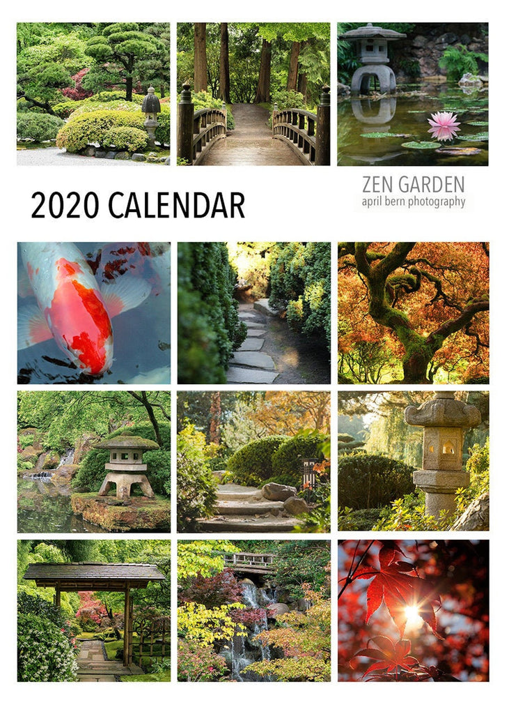 2020 Zen Garden 5x7 Desk Calendar - april bern photography