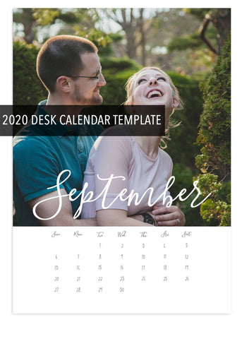 2020 DIY Desk Calendar Template - Instant Download