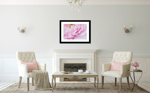 This pink peony fine art print adds a bit of nature and beauty to your home
