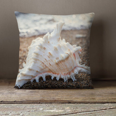 Seashell Throw Pillow - april bern photography