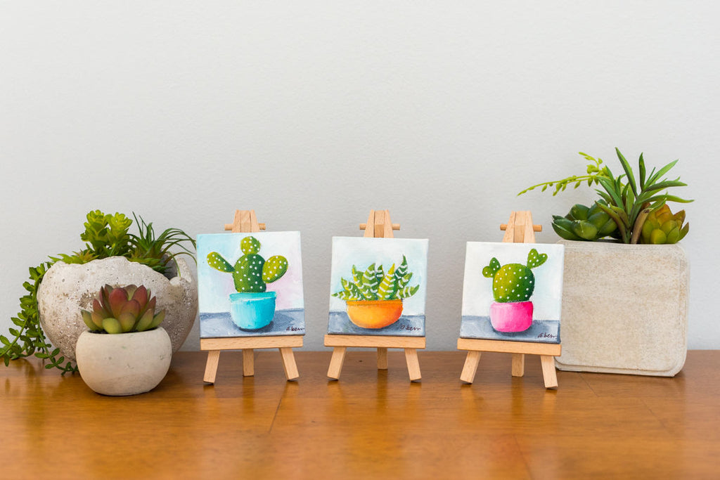 Small Succulent Painting