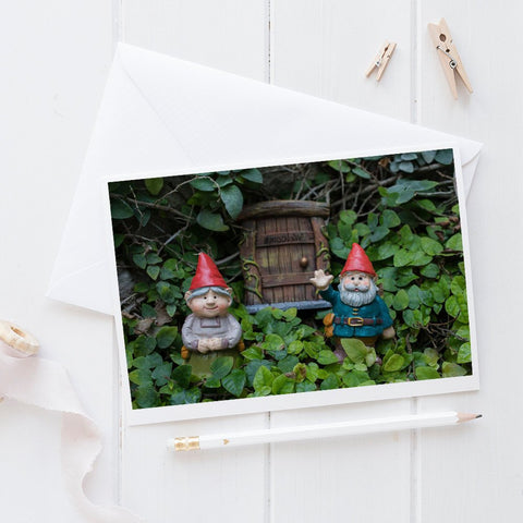 Welcome Gnome - Garden Gnome Blank Greeting Card