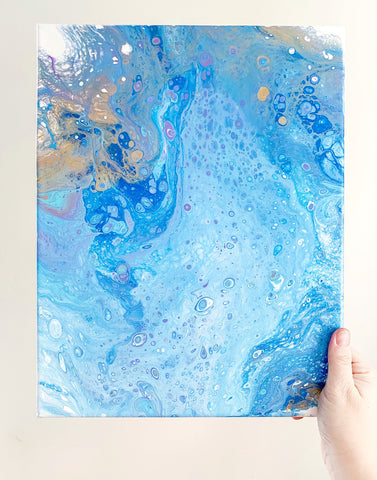 Blue Ocean and Sand Abstract Art - 11x14 Abstract Art - april bern photography