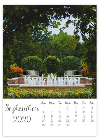 2020 Secret Garden 5x7 Desk Calendar - april bern photography
