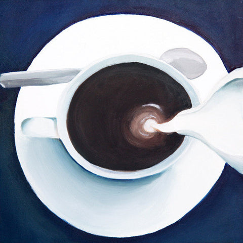 "Coffee & Cream Original Oil Painting 12""x12"""