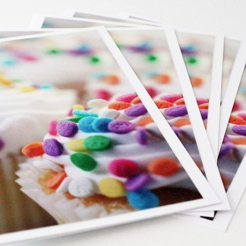 Cupcake Photo Notecards-Set of 5 Blank Cupcake Greeting Cards - april bern photography