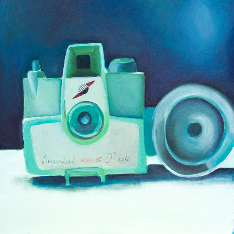 "Imperial Mark XII Vintage Camera Original Oil Painting 12""x12"" - april bern photography"