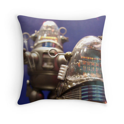 Robby the Robot Vintage Robot Decorative Throw Pillow - april bern photography