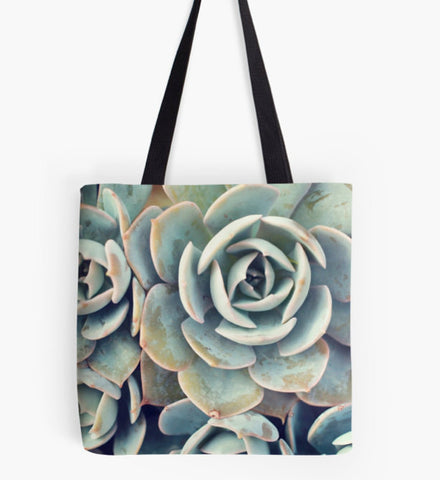 Succulent Garden Fine Art Photo Canvas Tote Bag - april bern photography