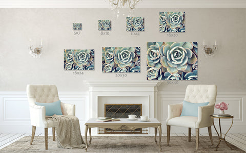 Ready to Hang Succulent Gallery Wrapped Canvas- Succulent Wall Decor - april bern photography