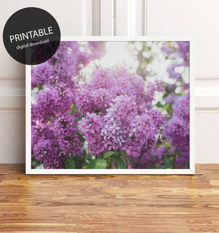 Instant Download - Spring Lilac Printable Art