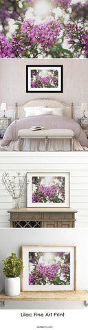 Lilac Heart Fine Art Print - april bern photography