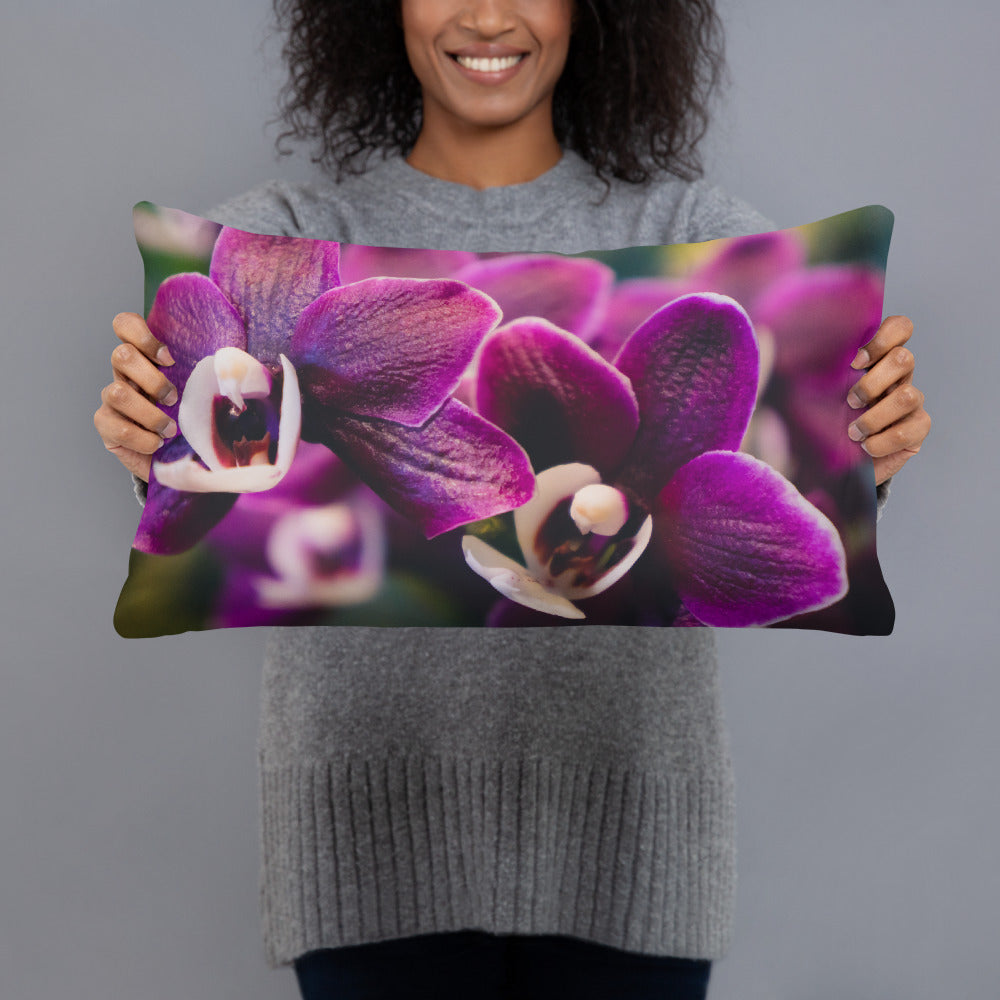 Orchid Throw Pillow - april bern photography