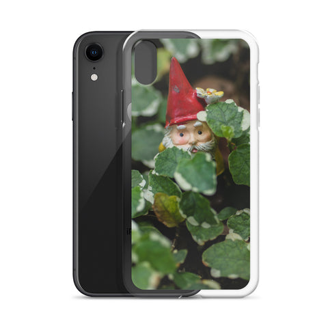 Peek-A-Boo Garden Gnome iPhone Case - april bern photography