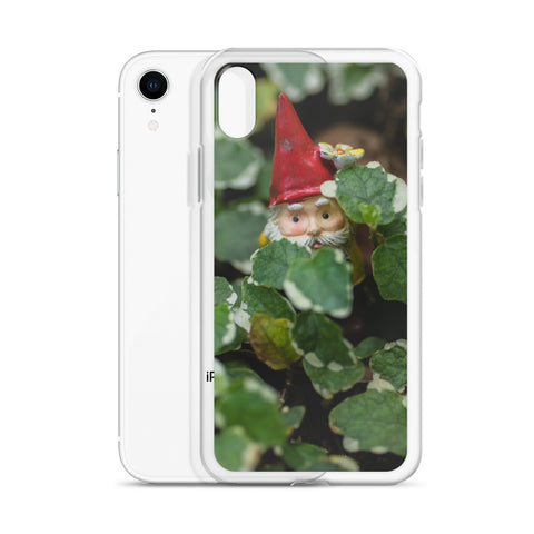 Peek-A-Boo Garden Gnome iPhone Case