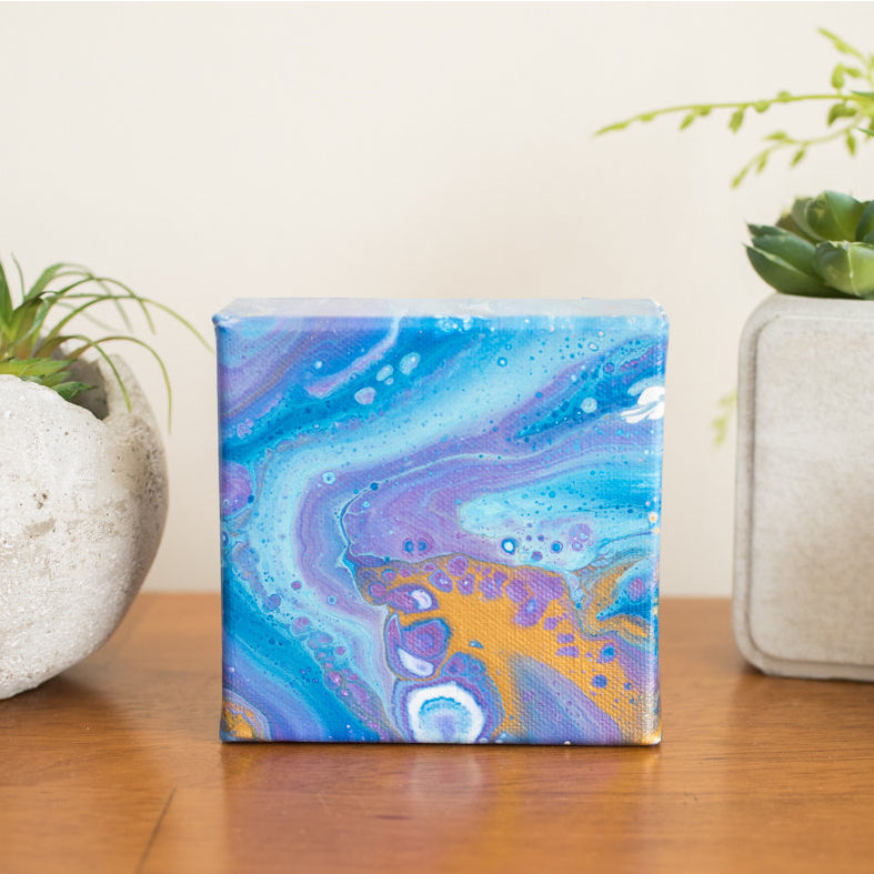 Purple Nebula Painting - 4x4 Abstract Art - april bern photography