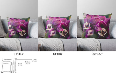 Photo Pillow Cover, Floral Pillow, Pillow covers 20x20, Home Decor, Photo Gifts