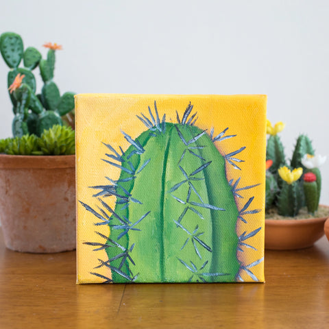 Cactus Art - 6x6 Oil Painting
