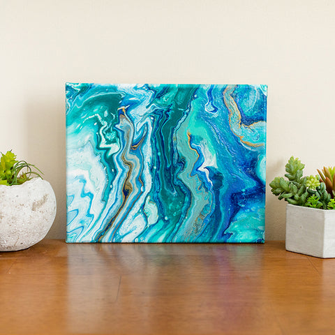 Abstract Ocean Painting - Blue Abstract Art