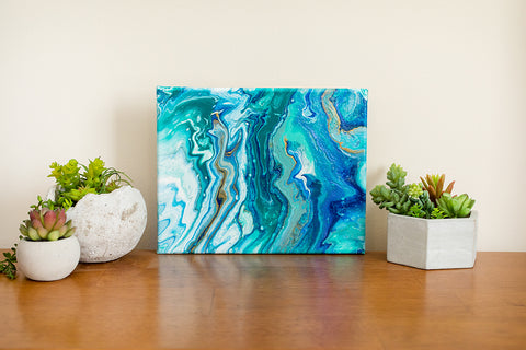 Abstract Ocean Painting - Blue Abstract Art - april bern photography