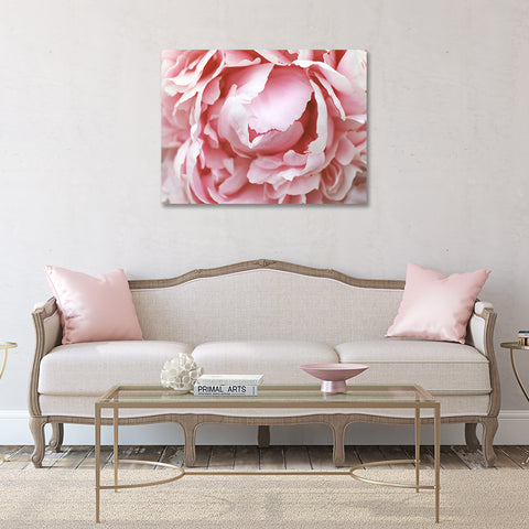 Peony Gallery Wrap Canvas - Ready to Hand Floral Canvas Art