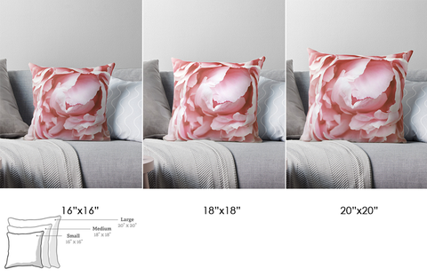 Pink Peony Decorative Throw Pillow Cover - april bern photography