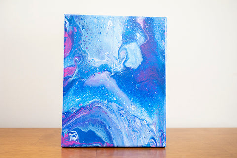 Milky Way Galaxy Abstract Art - 8x10 Acrylic Painting - april bern art & photography
