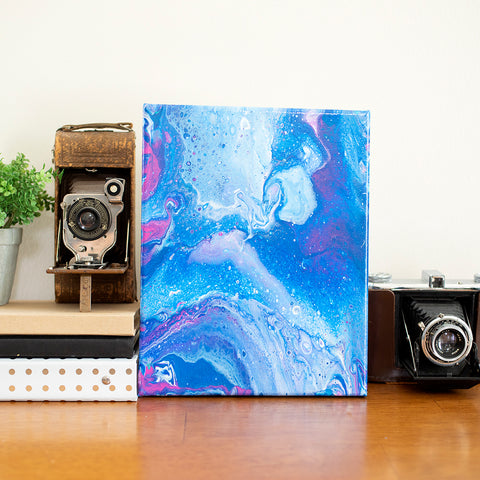 Milky Way Galaxy Abstract Art - 8x10 Acrylic Painting