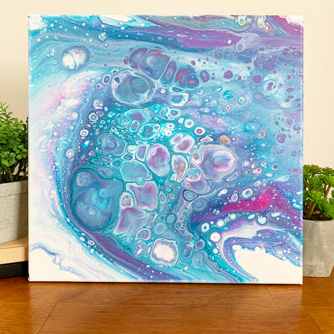 Nebula Abstract Art - 12x12 Acrylic Painting