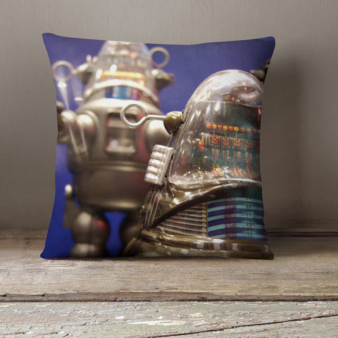Robby the Robot Vintage Robot Decorative Throw Pillow