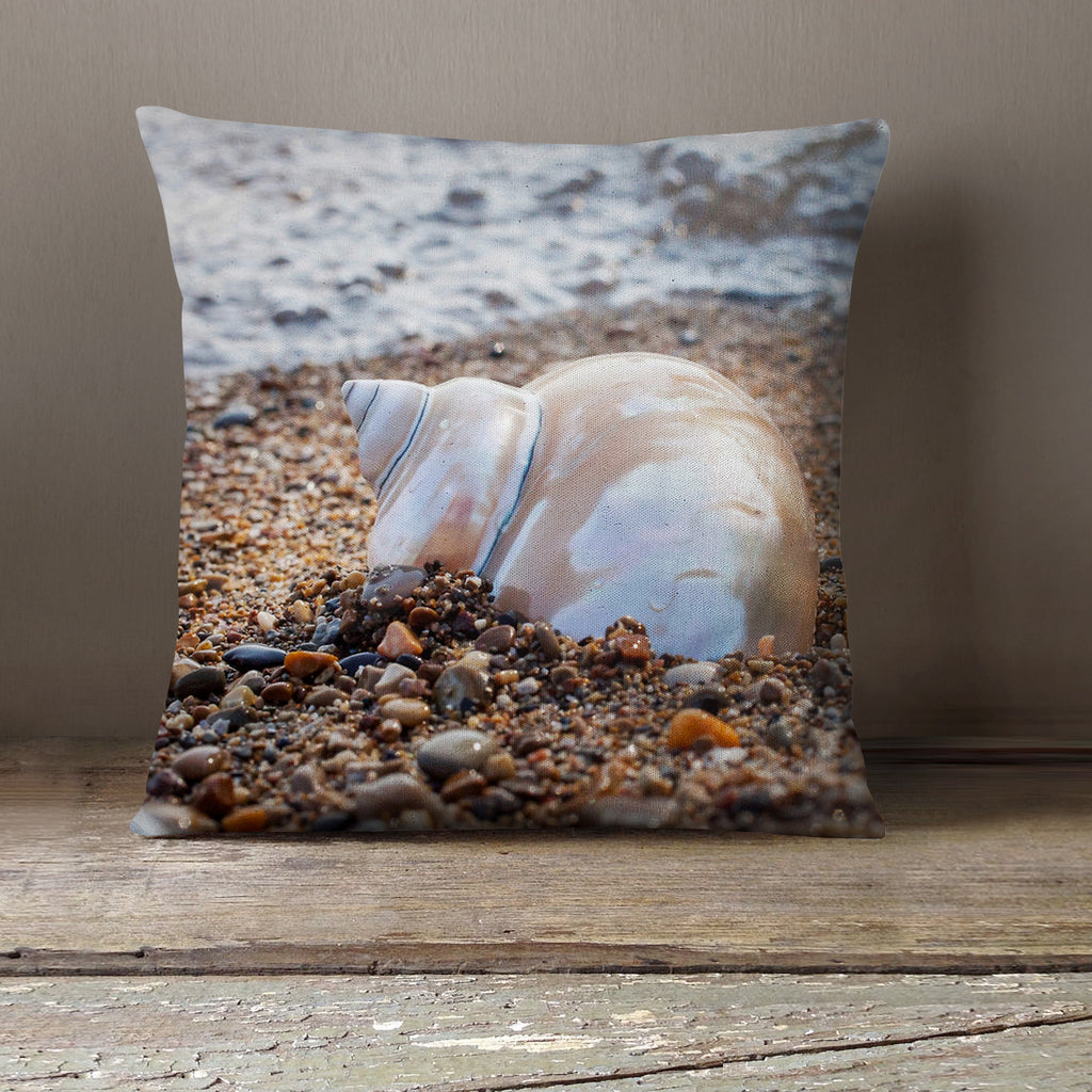 Seashell (no 3.) Decorative Throw Pillow - april bern photography