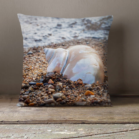 seashell decorative throw pillow cover