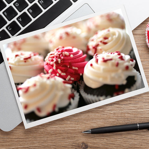 Cupcake Photo Card, Blank Greeting Card