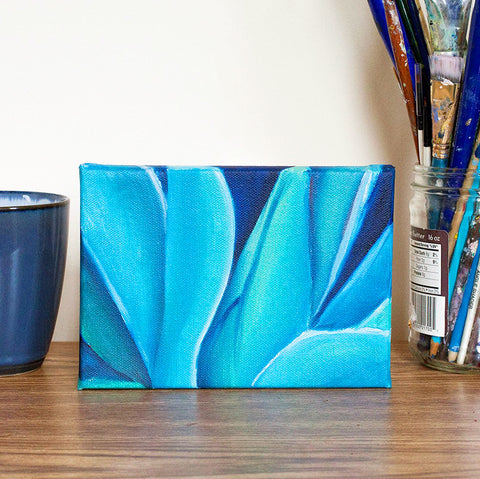 Blue Agave Original Oil Painting 5x7