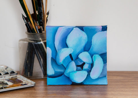 Small Succulent Painting - 6x6 Oil Painting - april bern photography