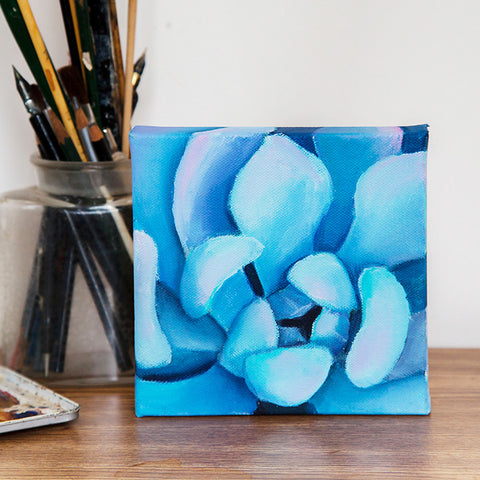 Small Succulent Painting - 6x6 Oil Painting