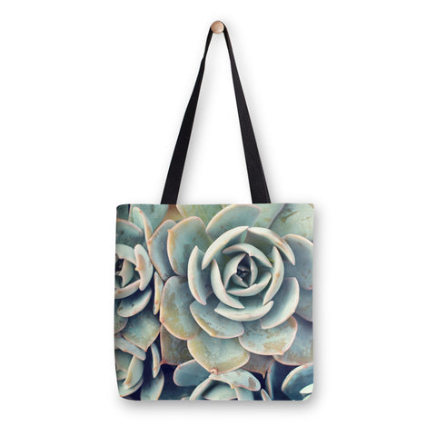 Ready to Ship - 16x16 Succulent Canvas Tote Bag