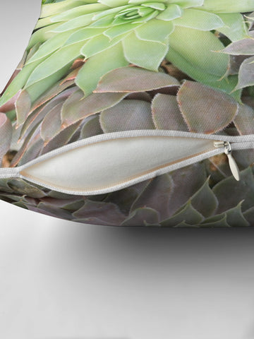 succulent pillow cover also features a concealed zipper
