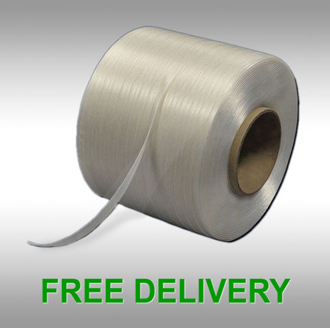 Baling Tape, 13mm x 250M, 8 Rolls:  €105 per Box / €13.12 per Roll / €0.052 per Metre