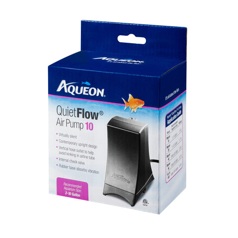 Aqueon Quiet Flow Air Pump 10 (for 2 to 10 Gallon Tanks)