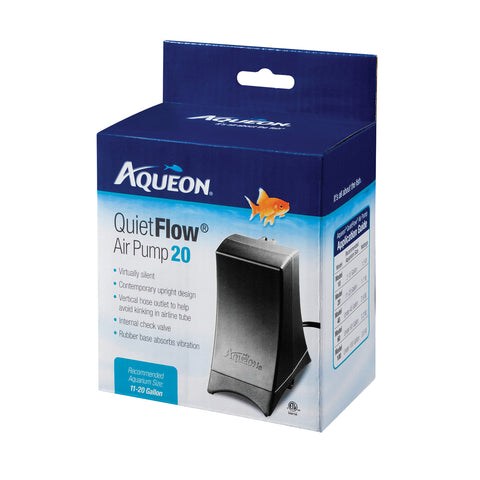 Aqueon Quiet Flow Air Pump 20 (for 11 to 20 Gallon Tanks)