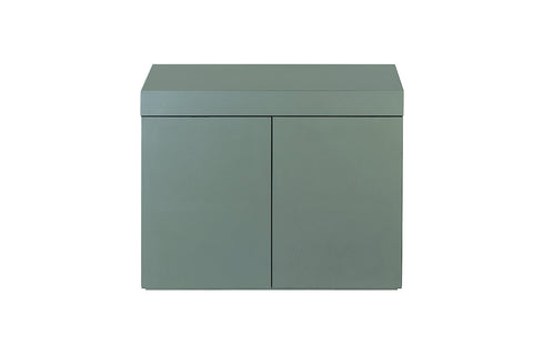Wood Cabinet for Cube Garden W90xD45cm (Gun Metallic Silver)