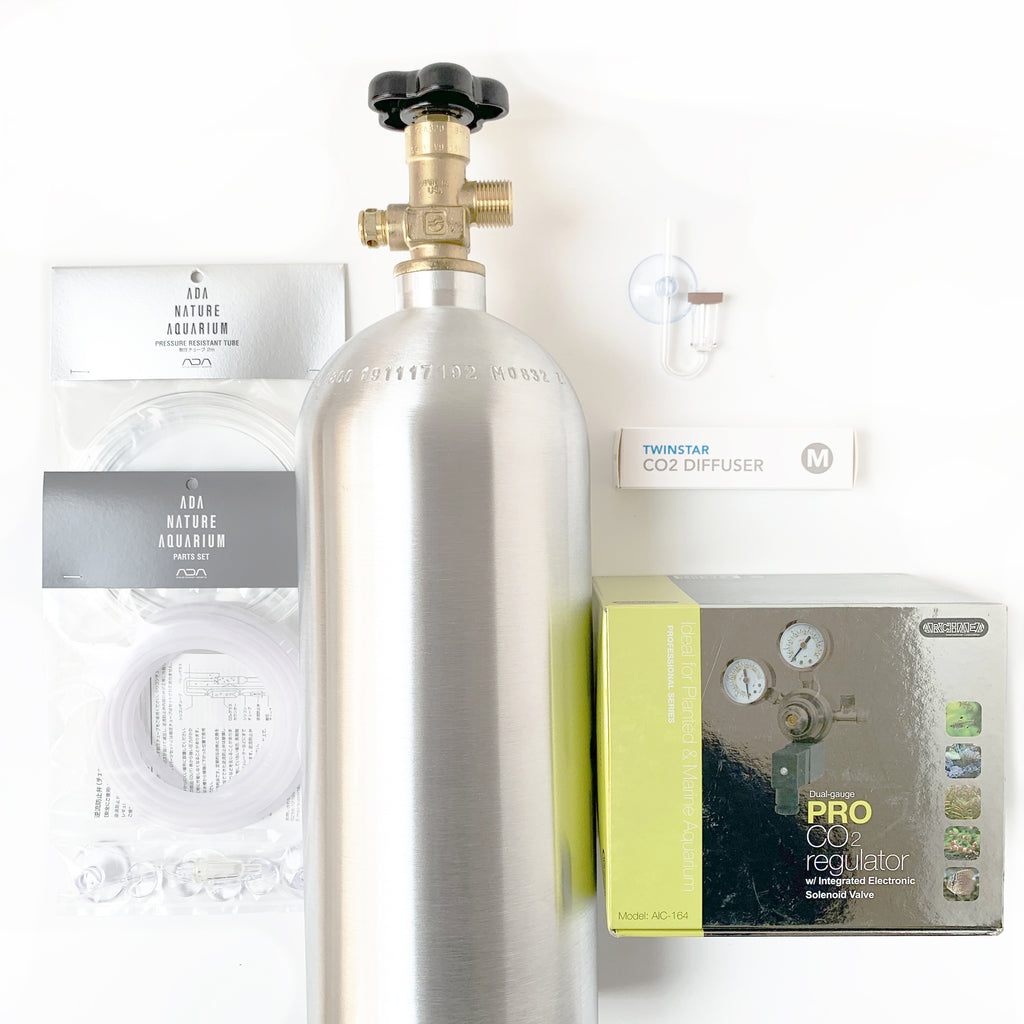 CO2 system kit with Archaea CO2 regulator (PRO) dual gauge