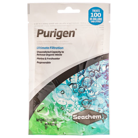 Seachem Purigen Ultimate Filtration (100 mL) - In Media Bag - Treats 106 Gallons