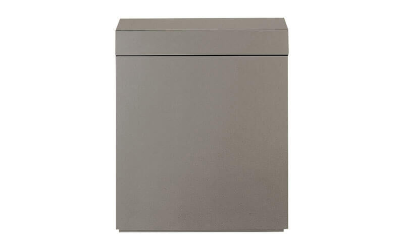 Wood Cabinet for Cube Garden W60xD30cm (Gun Metallic Silver)