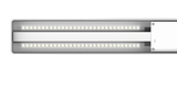 ONF Flat Nano LED light - with built-in Dimmer - (Metallic Silver)