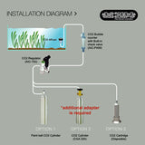 ARCHAEA CO2 REGULATOR (PRO) SINGLE GAUGE (FITS PAINT-BALL TANK)