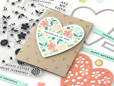 FEATURE FRIDAY: TRIPLE-STEP BLOOMING HEART | PLAID CARD FRONT DIES